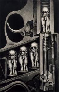 BIRTHMACHINE- 165 × 109 cm - Alueloxal print / 2001