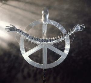 Leben erhalten- 140 x 90 x 20 cm - Aluminium / 1993