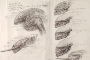Drawings for Alien 3 - 40 x 60 cm - Pencil & ink on paper / 1990